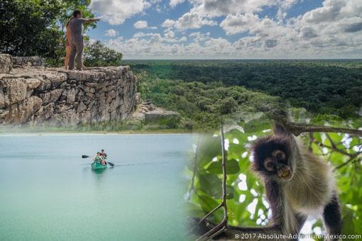 coba-punta-laguna-monkey-private-tour